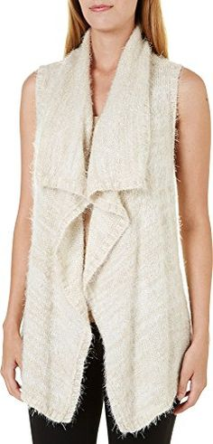 kensie Womens SpaceDye Asymmetrical Sweater Vest XL Cream >>> More info could be found at the image url.-It is an affiliate link to Amazon. #fashionsweaters