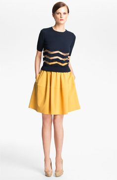 Carven Stripe Knit Sweater available at #Nordstrom