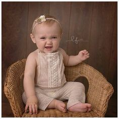 Cerys Romper Set Sitter Set Oatmeal Romper 6-12 by BabyLoveUK