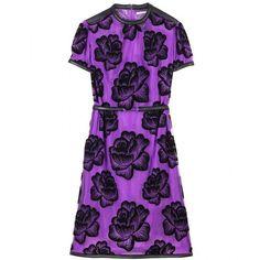 Christopher Kane Transparent Mesh Dress With Flocked Floral Patterning ($3,384) ❤ liked on Polyvore