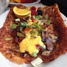 Loaded hash browns.
