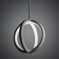 two.parts/orbit pendant LED light fixture made of 3D printed ceramic