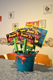 091226d32d34db Today I& going to show you how to make a Scratch Ticket Bouquet! My mom  looooves her scratch tickets and I end up gettin.