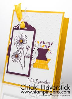 """Stampin' Up! """"Bloom With Hope"""" in Blackberry Bliss and Hello Honey - gorgeous!"""