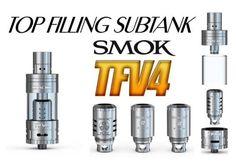 Buy Smok TFV 4 Sub Ohm Tank Atomizer Full Kit at just 37,90 €.