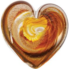 Amber Glow Heart, infused with cremation ash, from Celebration Ashes