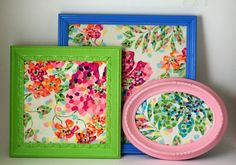 colorful picture frames  Also cute to frame your fav wallpaper in!