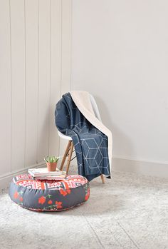 Study corner complete with a DENY Designs floor pillow and a cozy trendy sherpa fleece! Dorm Room Art, Floor Pillows, Throw Pillows, Study Corner, Home Accessories, Baby Car Seats, Duvet Covers, Bohemian, Cozy