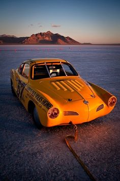 Carmen Ghia salt flat racer