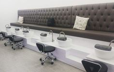 The brand new #pedicure stations at Hair Republic Beauty Lounge! #salon #salonspa #spa #ottawa More