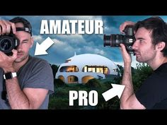 "Amateur Vs Pro Architecture Photographer Shoot The ""DOME HOUSE"" - Photography, Landscape photography, Photography tips Real Estate Photography, Photography 101, Photography Tutorials, Photography Website, Best Digital Camera, Best Camera, Entry Level Dslr, Camera Deals, Dome House"