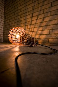Wooden Bulb Lamp by GoldenGrade on Etsy