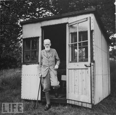 George Bernard Shaw's rotating writing shed - he could rotate it to follow the sun.