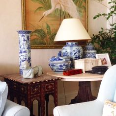 Mark D. Sikes photo - (side) tablescape at Bunny Williams and John Rosselli's home, La Colina.