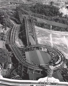 Aerial photo of The Racer, Kennywood Park 1927 Pittsburgh Skyline, Pittsburgh Pa, Geauga Lake Amusement Park, Amusement Parks, Pennsylvania History, Go Steelers, Great Places, Roller Coasters, Disneyland Parks