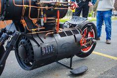- Real steam powered bike. Top Speed 10Kmph....