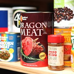 ThinkGeek :: Canned Dragon Meat
