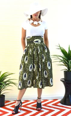 """Flying South"" Full Skirt"