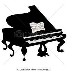piano clipart - Google Search