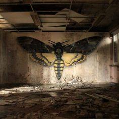 Street art illusions by Mantra Rea #Painting #Graffiti #art