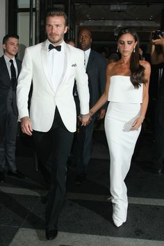 titani-um: yeezuss: allblvckk: fashiondailymag: david beckham and victoria beckham at The Mark, en route to the 2014 Costume Institute...