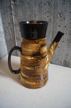 Mid Century Ceramic Tea Pot by stukinmidcentury on Etsy, $45.00