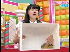 Mystery box terrifies girl - Japanese gameshow