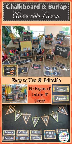 Classroom decor that is simple and nice to look at