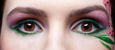 Green with black eye shadow for brown eyes swabs