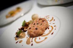 Veal sweetbreads, grape, hazelnut, chanterelle mushrooms. Mmmm...