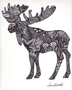 Top Mini Moose Tattoo Images for Pinterest Tattoos