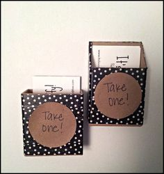 Toodle noodle creative hanging business card holder for grocery diy business card holder itssooofluffyspot colourmoves