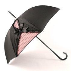 black and pink umbrella