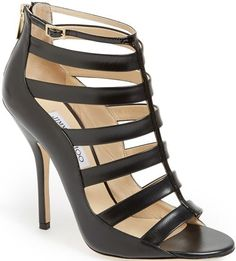 Jimmy Choo Black Fathom Cage Bootie $1095.00 #shoes #heels - CLICK HERE for more: http://www.needcuteshoes.com/products/jimmy-choo-black-fathom-cage-bootie/