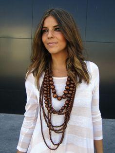Fashion jewelry in summer
