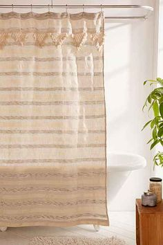 Offera Woven Shower Curtain By Urban Outfitters