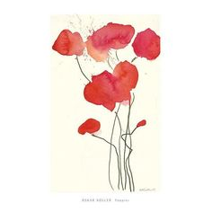 Poppies Art Print by Oskar Koller
