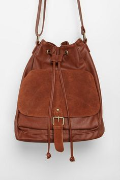 Urban Outfitters - Cooperative Suede Pocket Bucket Bag