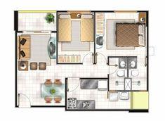 plano de casa chiquita