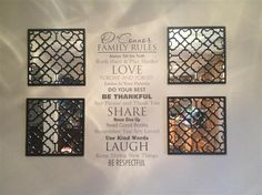 Family Rules... great idea for the front room makeover