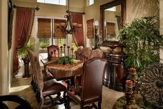 Old World Tuscan or Mediterranean decor. From Decor Accents Inc @ Stunning Expressions. Style Toscan, Style Villa, Tuscan Style Decorating, Tuscan Design, Decorating Ideas, Decor Ideas, Wall Ideas, Tuscan Style Homes, Tuscan House