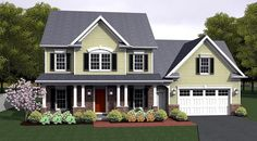 Traditional House Plan 54064 Elevation