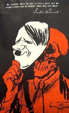 German Propaganda - This poster is self-explanatory. Hitler = Death.