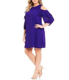 Shop for Jessica Howard Plus Ruffled Cold Shoulder Dress at Dillards.com. Visit Dillards.com to find clothing, accessories, shoes, cosmetics & more. The Style of Your Life.