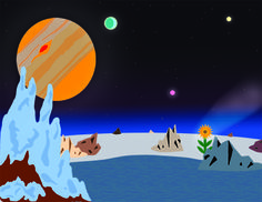"""Editorial Illustration: """"Freeman Dyson: Let's Look for Life in the Outer Solar System"""" (theoretical) Freeman Dyson, Project 3, Solar System, Design Projects, My Design, Editorial, Illustration, Movie Posters, Life"""