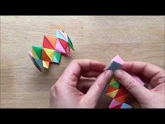 Kirigami Paper Bracelet How To - YouTube