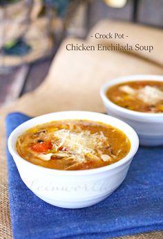 Crock Pot Chicken Enchilada Soup : Easy Family Dinner Ideas on kleinworthco.com