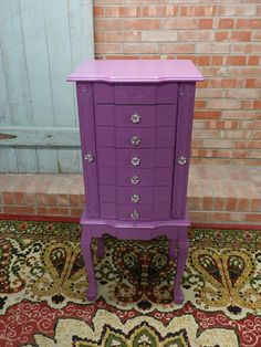jewelry armoire redo in purple