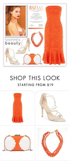 """""""Orange dress"""" by alaneg-m ❤ liked on Polyvore featuring Warehouse, Schutz and Corto Moltedo"""