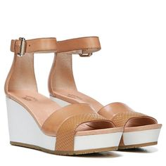 Dr. Scholl's Shoes ||  Original Collection ||  Warner Wedge Sandal in Sienna Tan Leather
